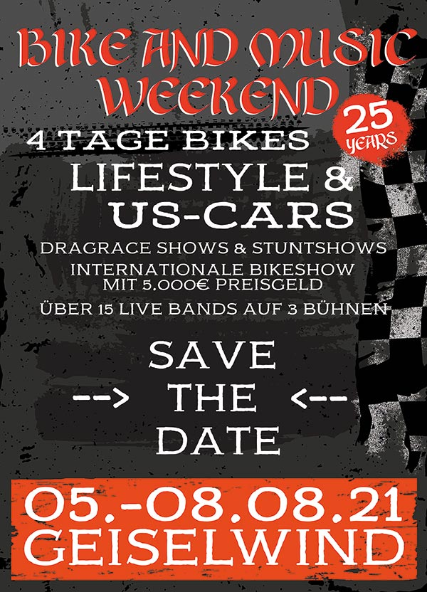 Bike and Music Weekend 05.-08. August 2021