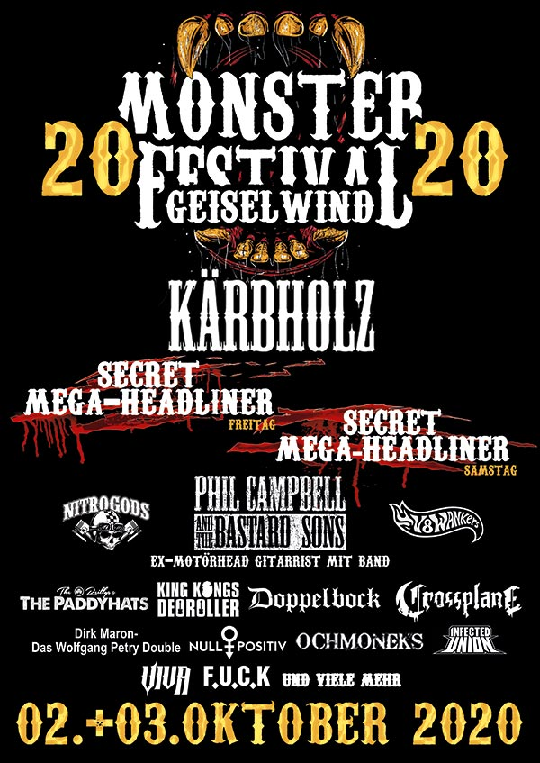 Monster Festival 2020 Eventzentrum Strohofer Geiselwind