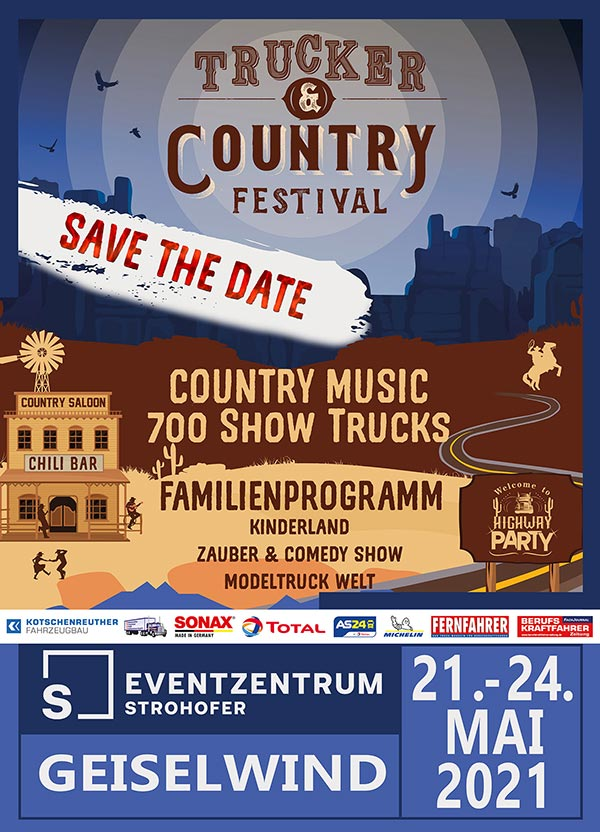 Trucker and Country Festival 2021 im Eventzentrum Strohofer Geiselwind