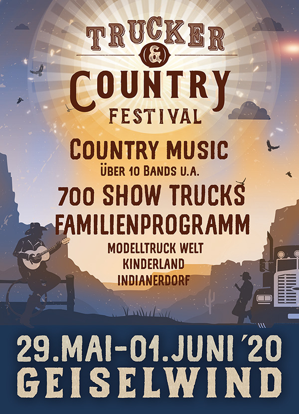 Trucker & country Festival 29. Mai - 01. Juni 2020